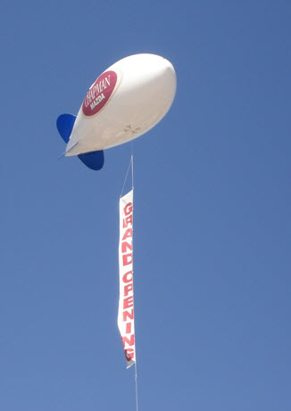 advertising blimps and advertising balloons for sale in Los Angeles